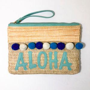 Handbags - 🛒 Aloha Straw Wristlet with Pompoms